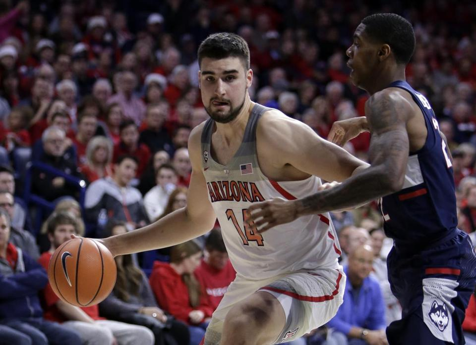 Center Dusan Ristic and Arizona are riding a seven-game win streak.