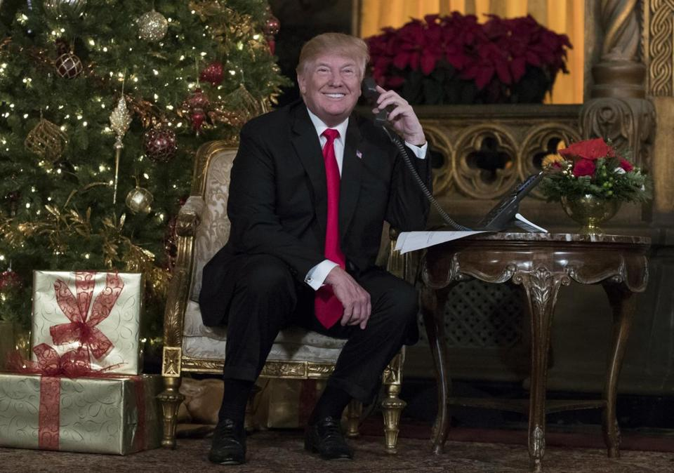 President Trump on Christmas Eve.