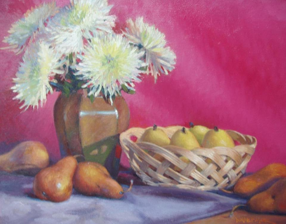"31socalendar - ""Fuji Mums"" by Dianne Panarelli Miller of Abington. (South Street Gallery)"