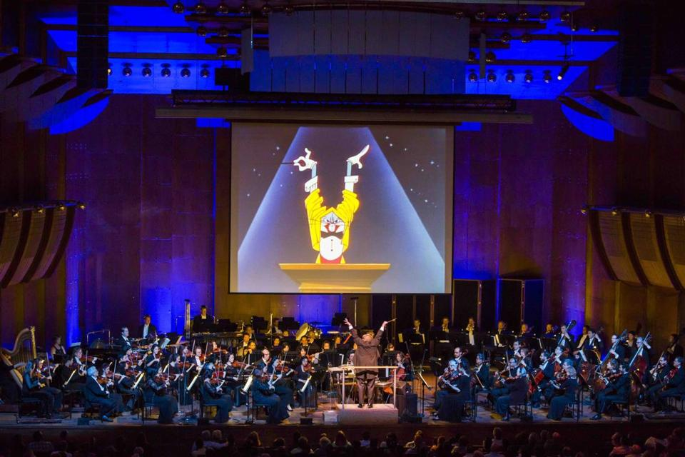 "A performance of ""Bugs Bunny at the Symphony"" from the New York Philharmonic at Avery Fisher Hall in 2015."