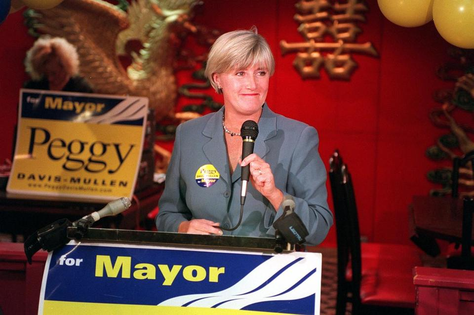 Then-City Councilor Peggy Davis-Mullen ran against Mayor Thomas M. Menino in 2001 — and lost.