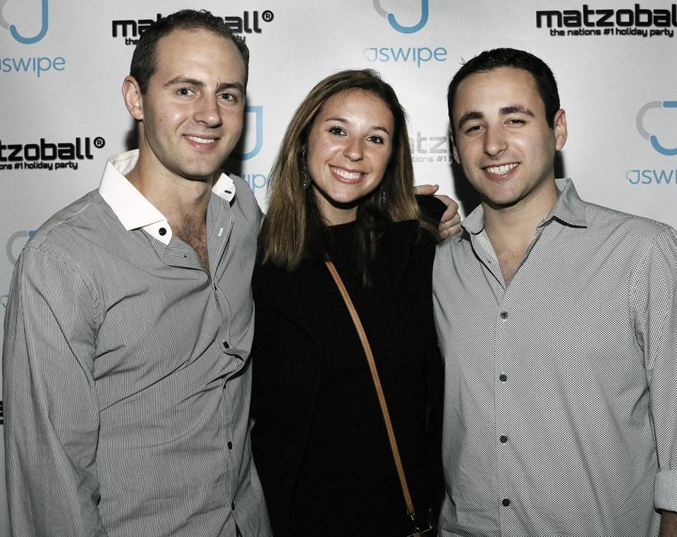 Matthew Gilberg (left) and his sister Kara of Swampscott, and Nathan Teptow of Weston.