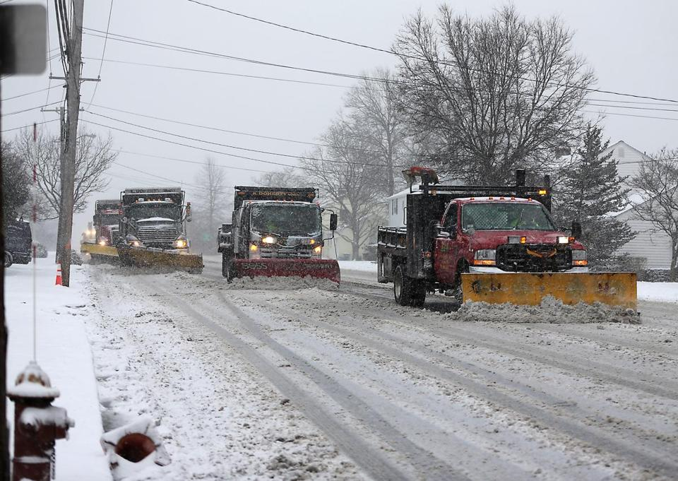 Quincy has given Sandisfield three used plow trucks that were delivered before Christmas.