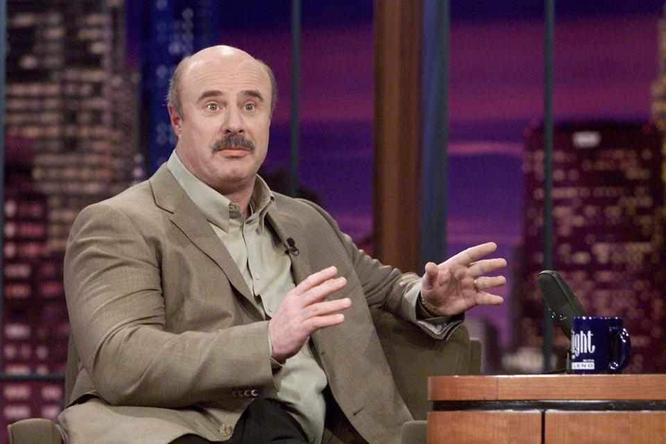 "Dr. Phil McGraw on ""The Tonight Show with Jay Leno"" in 2002."