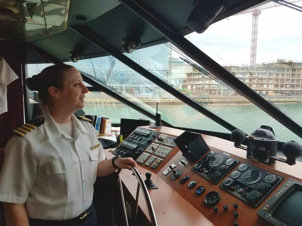 Christine Hooley at the helm.