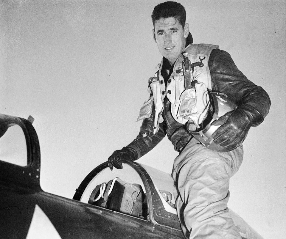 Ted Williams in Korea in 1953.