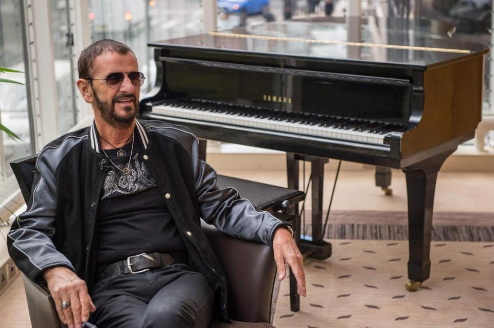 Embargoed until December 29, 2017 - 22:31 GMT / (FILES) This file photo taken on September 14, 2017 shows British musician and former Beatles member Ringo Starr speaking to the press to promote his new album 'Give More Love' in London. Beatles drummer Ringo Starr and sole surviving Bee Gee Barry Gibb are among the public figures to receive Britain's traditional New Year Honours, announced late on December 29, 2017. The legendary duo, both awarded knighthoods, were joined on the prestigious annual achievement list by Golden Globe-winning actor Hugh Laurie, renowned dancer Darcey Bussell, and hip-hop artist Wiley. / AFP PHOTO / CHRIS J RATCLIFFECHRIS J RATCLIFFE/AFP/Getty Images