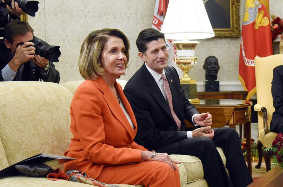 House minority leader Nancy Pelosi and Speaker Paul Ryan are among the politicians who might need to work together this year.