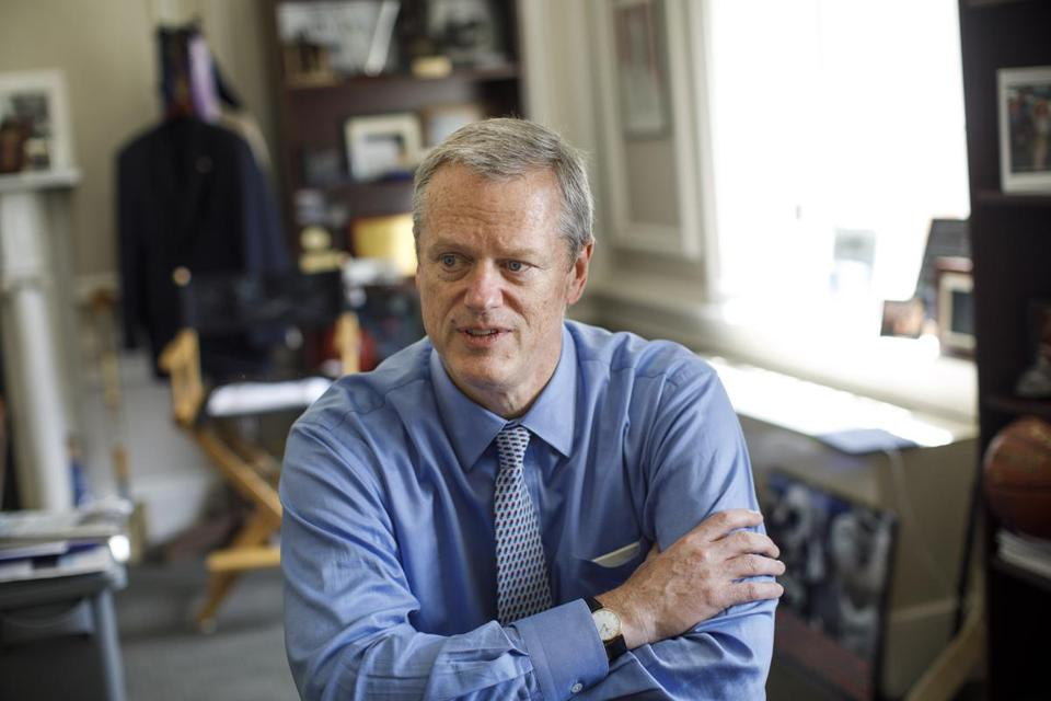 Governor Charlie Baker lobbied against legalization of recreational marijuana and for the expansion of charter schools.