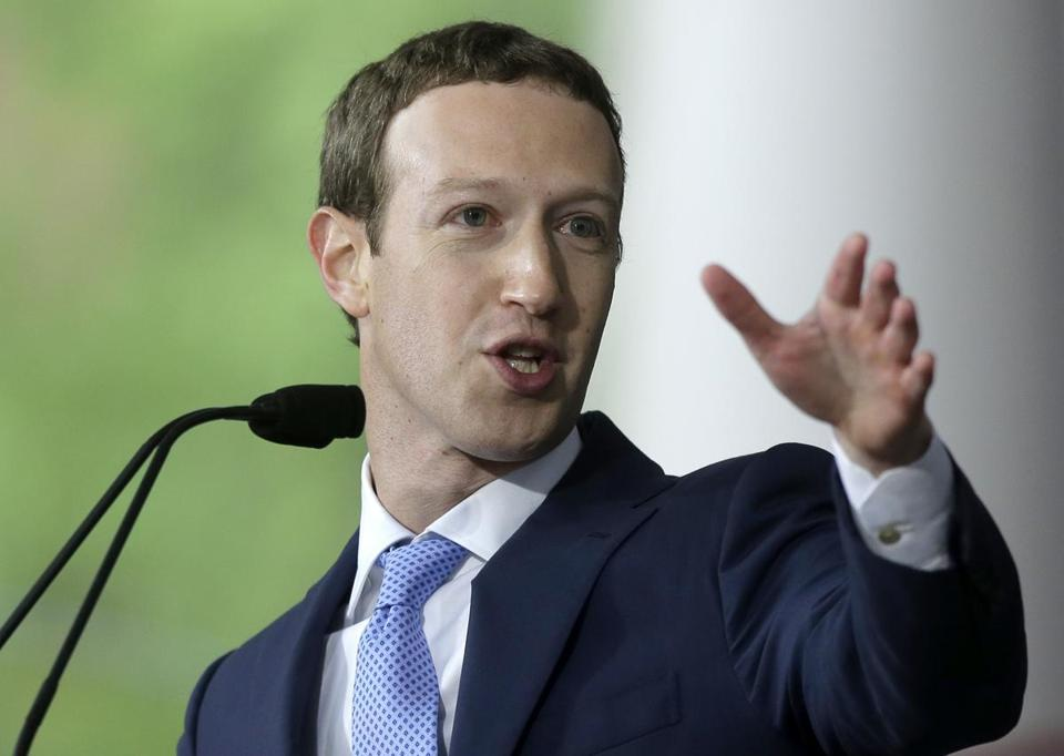 "FILE - In this May 25, 2017, file photo, Facebook CEO Mark Zuckerberg delivers the commencement address at Harvard University in Cambridge, Mass. Zuckerberg says his ""personal challenge"" for 2018 is to fix Facebook. Zuckerberg wrote in a post Thursday, Jan. 4, 2018, that he now wants to focus on protecting Facebook users from abuse, defending against interference by nation-states and ""making sure that time spent on Facebook is time well spent."" (, File)"