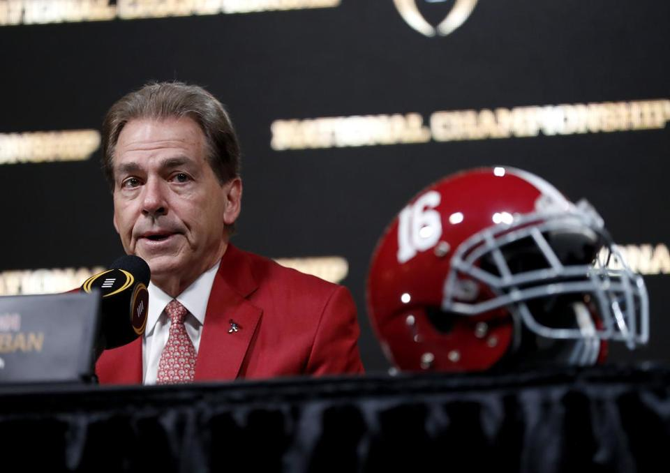 If Alabama topples Georgia, coach Nick Saban will capture his fifth national championship with the Crimson Tide.
