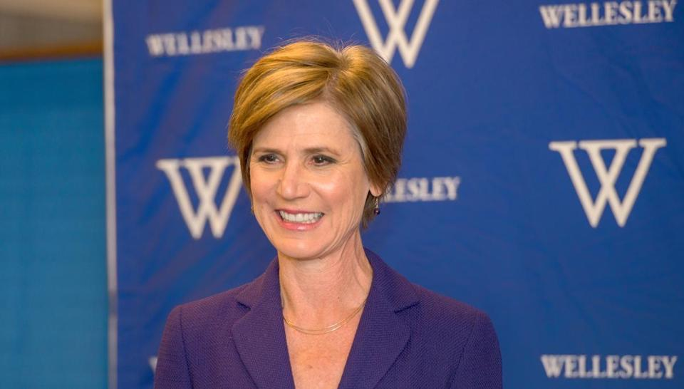Sally Yates spoke Monday at the Madeleine Korbel Albright Institute for Global Affairs at Wellesley College.