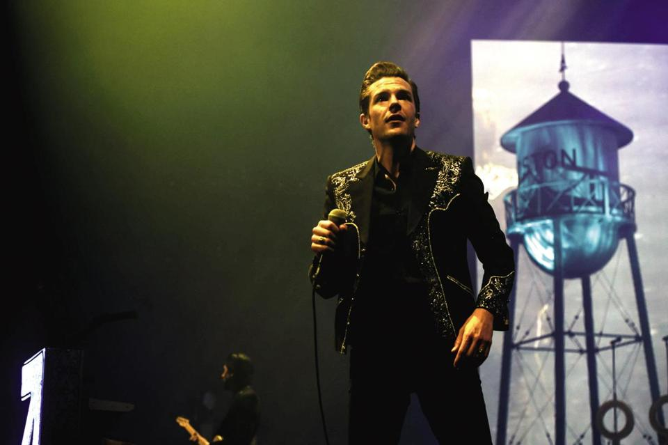 Brandon Flowers of the Killers at TD Garden.