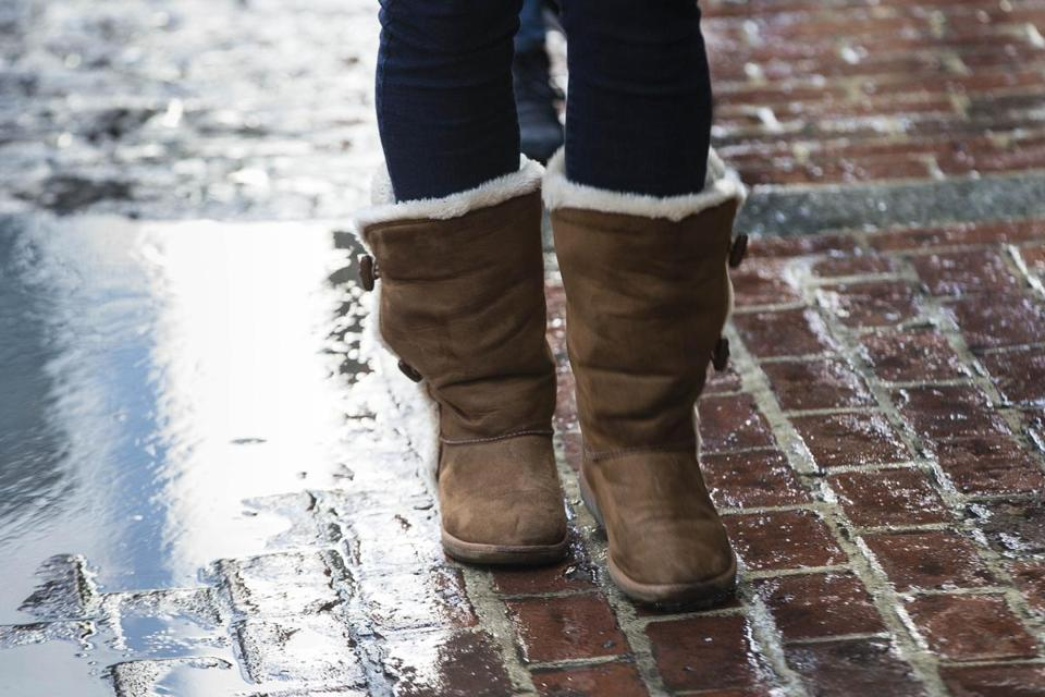The model of Uggs popular around town is not waterproof, great on ice, or capable of making it down Tremont Street unscathed.