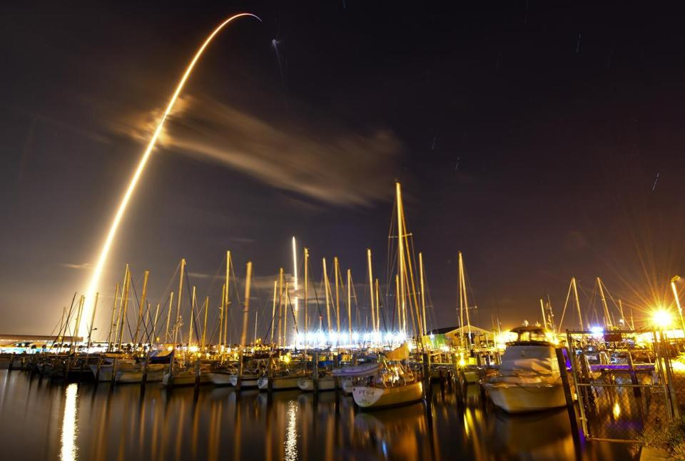 The SpaceX Falcon 9 rocket launched Sunday from Cape Canaveral.
