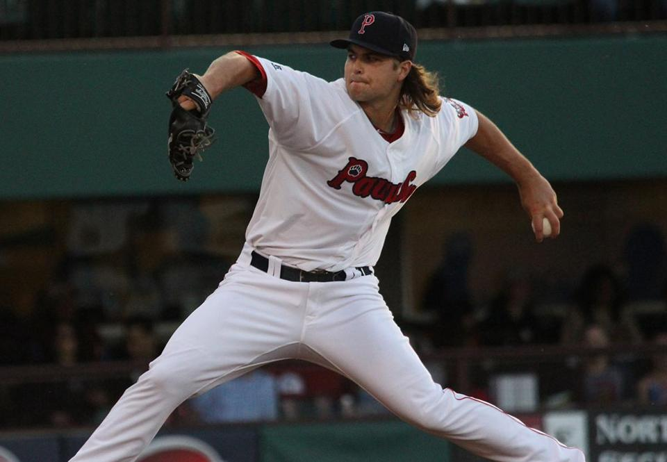 Pitcher Jalen Beeks in action for the Pawtucket Red Sox. (Jason Schneider/Pawtucket Red Sox)