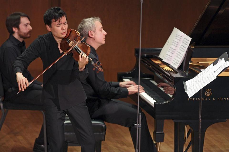 Violinist Stefan Jackiw and pianist Jeremy Denk will perform the Violin Sonatas of Charles Ives Jan. 26 at Jordan Hall.