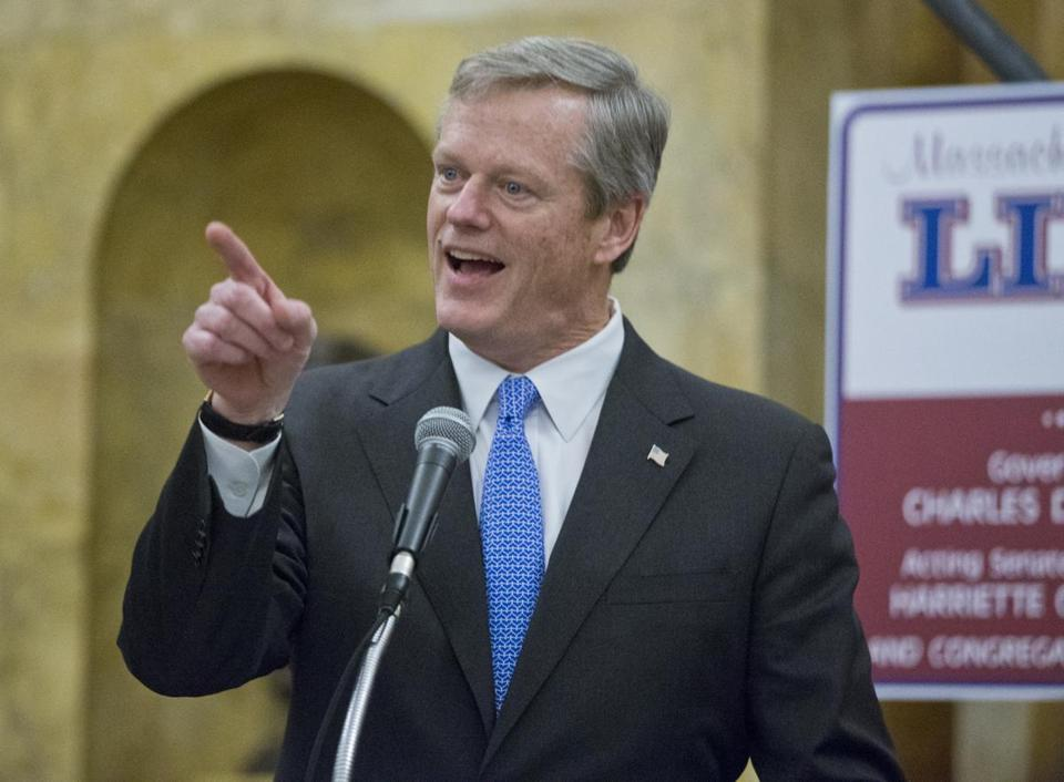 Sixty-six percent of voters have a favorable opinion of Governor Charlie Baker, according to a WBUR poll.
