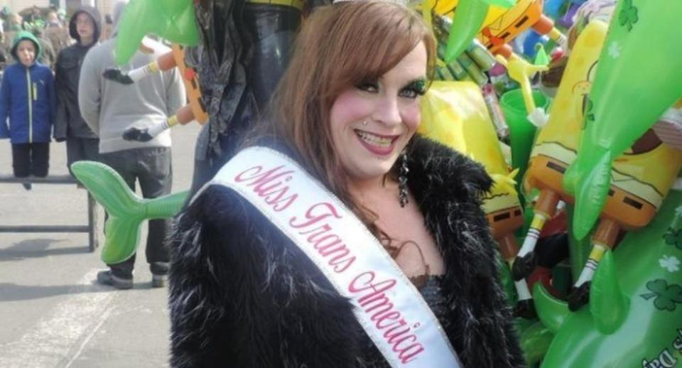 Christa Leigh Steele-Knudslien in the Miss Trans America Pageant, which she created.