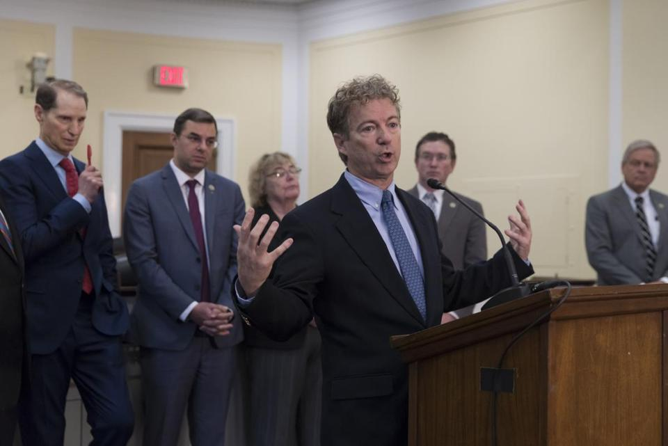 Senator Rand Paul answered questions for reporters Thursday.