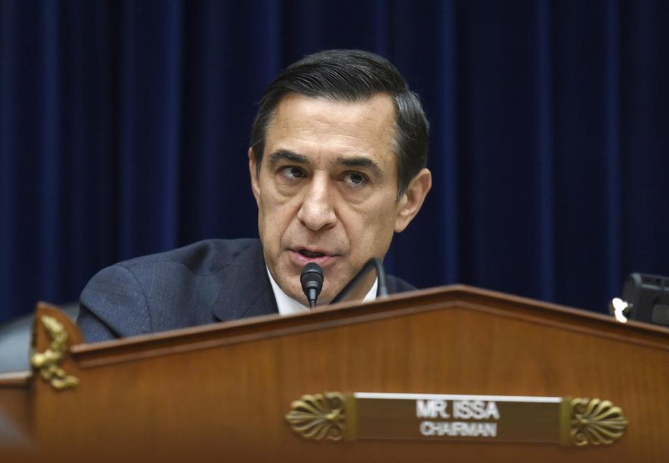 Representative Darrell Issa, a California Republican, announced in the past week that he would not seek reelection in this year's House race.