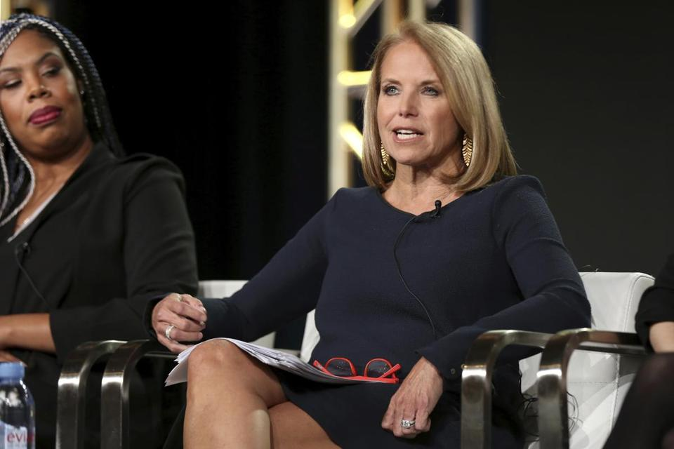 Katie Couric spoke Saturday during a press event in Pasadena, Calif. Couric told People magazine about allegations of sexual assault being made against former colleague Matt Lauer: ''I had no idea this was going on during my tenure or after I left.''