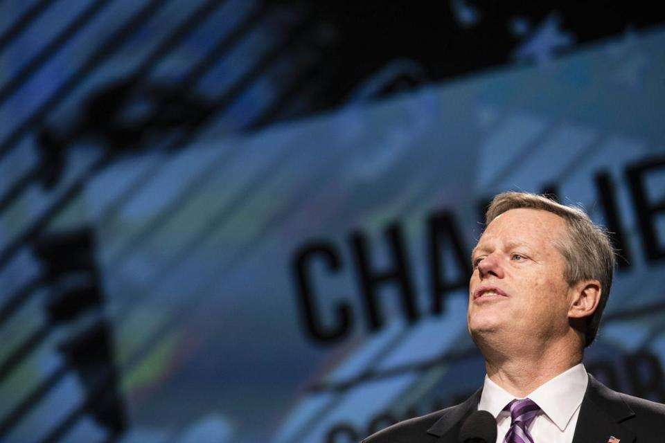 Boston, Massachusetts - 1/15/2018 - Massachusetts Governor Charlie Baker speaks during the annual Martin Luther King, Jr. memorial breakfast at the Boston Convention Center in Boston, Massachusetts, January 15, 2018. (Keith Bedford/Globe Staff)
