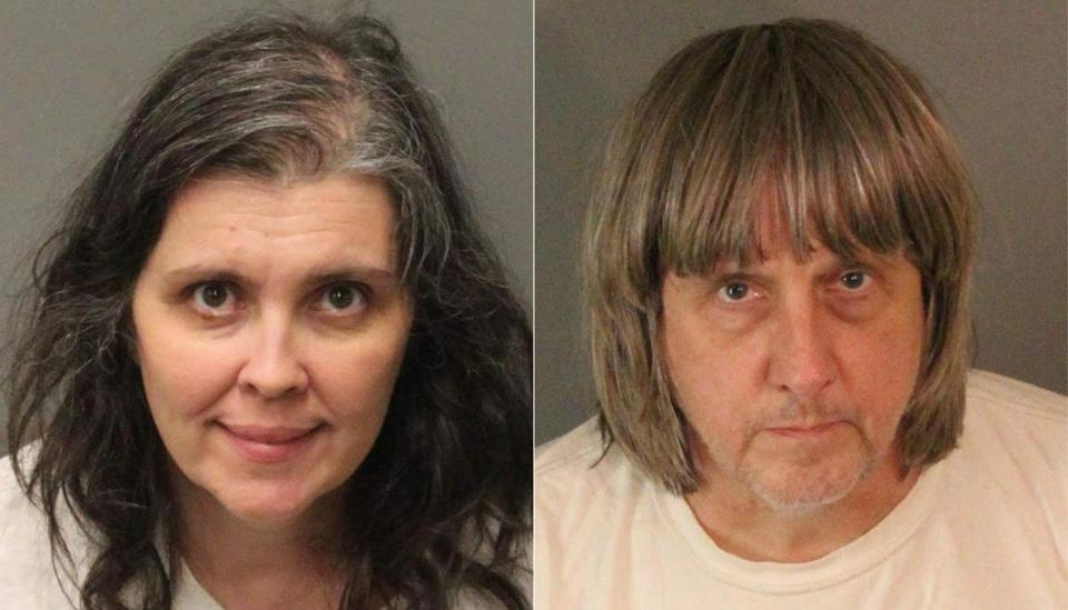 Louise Anna (left) and David Allen Turpin are each being held on $9 million bail.