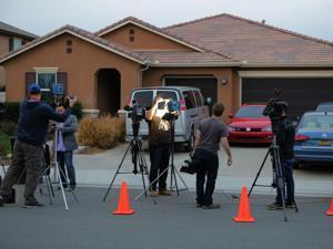 The home where police arrested a couple accused of holding their 13 children captive in Perris, Calif.