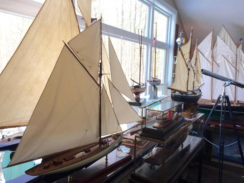 Model ships on display at the Lannan Ship Model Gallery in Norwell.