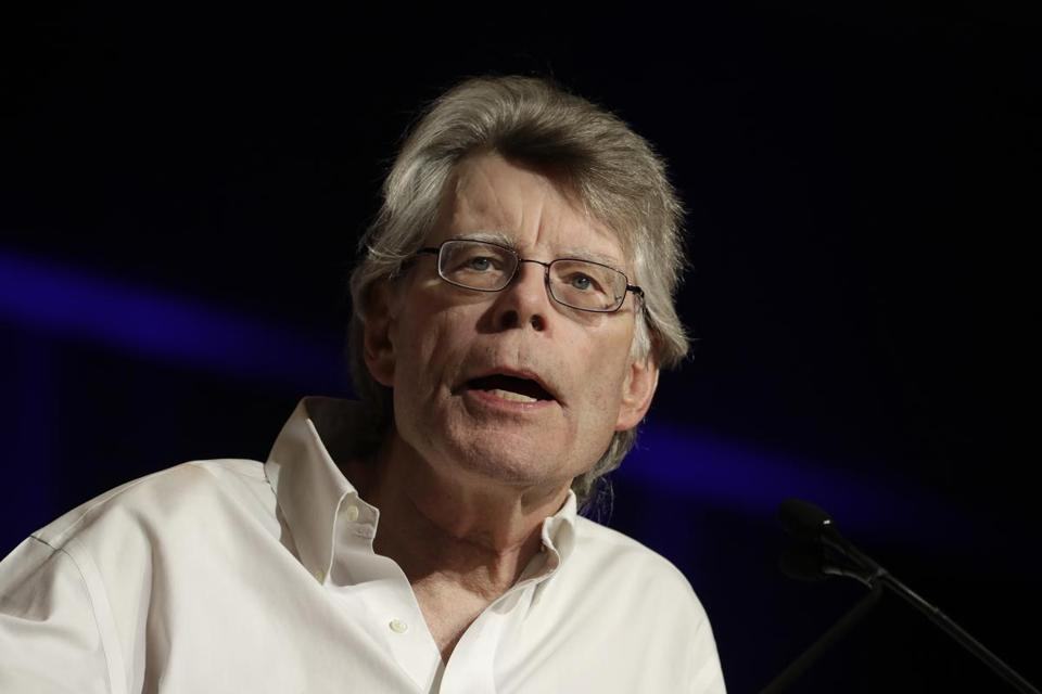 Author Stephen King, shown speaking in New York last year, will receive the PEN America Literary Service Award in May.