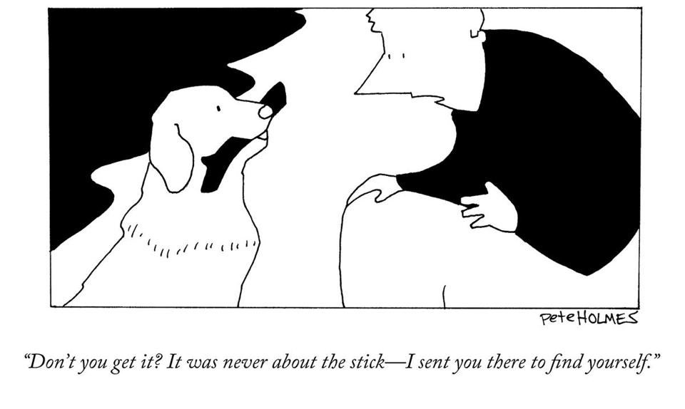 Pete Holmes's drawings are frequently published by The New Yorker.