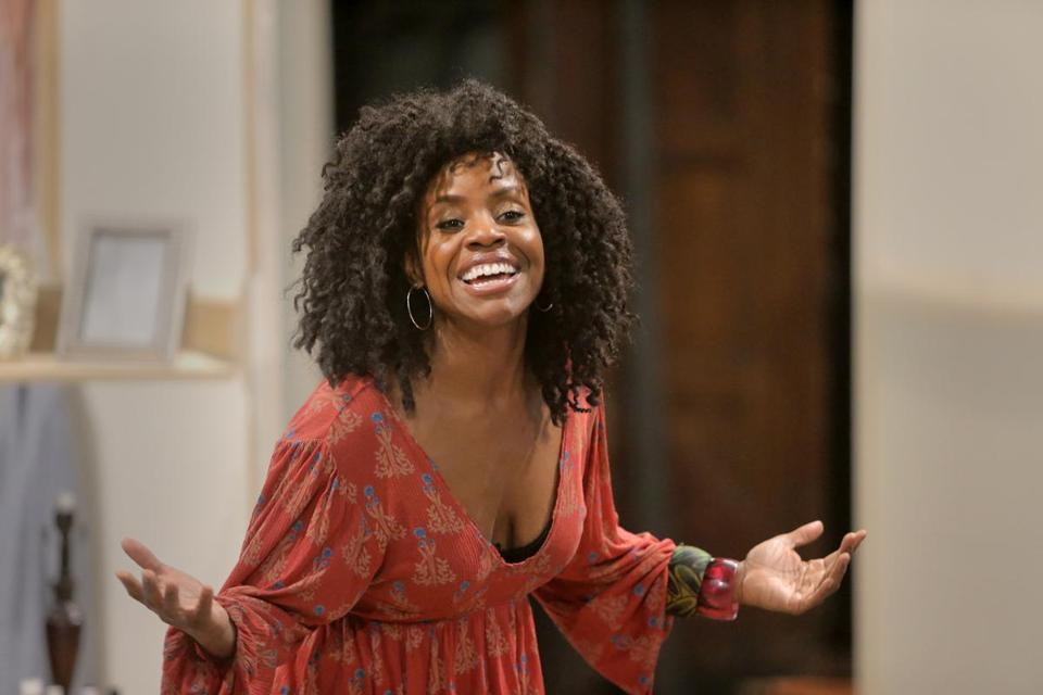 "Haneefah Wood during rehearsal for ""Bad Dates."""