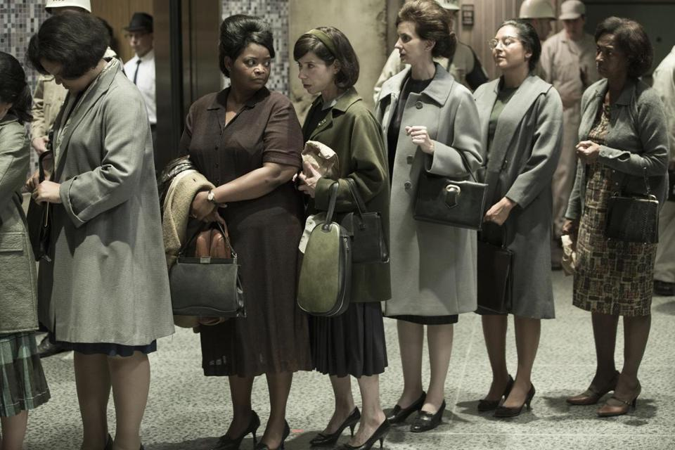 "Sally Hawkins (center) and Octavia Spencer (second left) in a scene from the film ""The Shape of Water."""