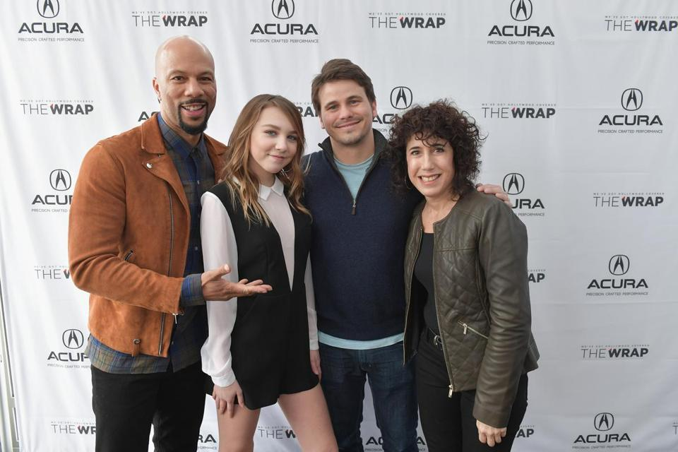 "Actors (from left) Common, Isabelle Nelisse, Jason Ritter, and writer-director Jennifer Fox of ""The Tale,'' the most talked-about movie at the Sundance Film Festival."