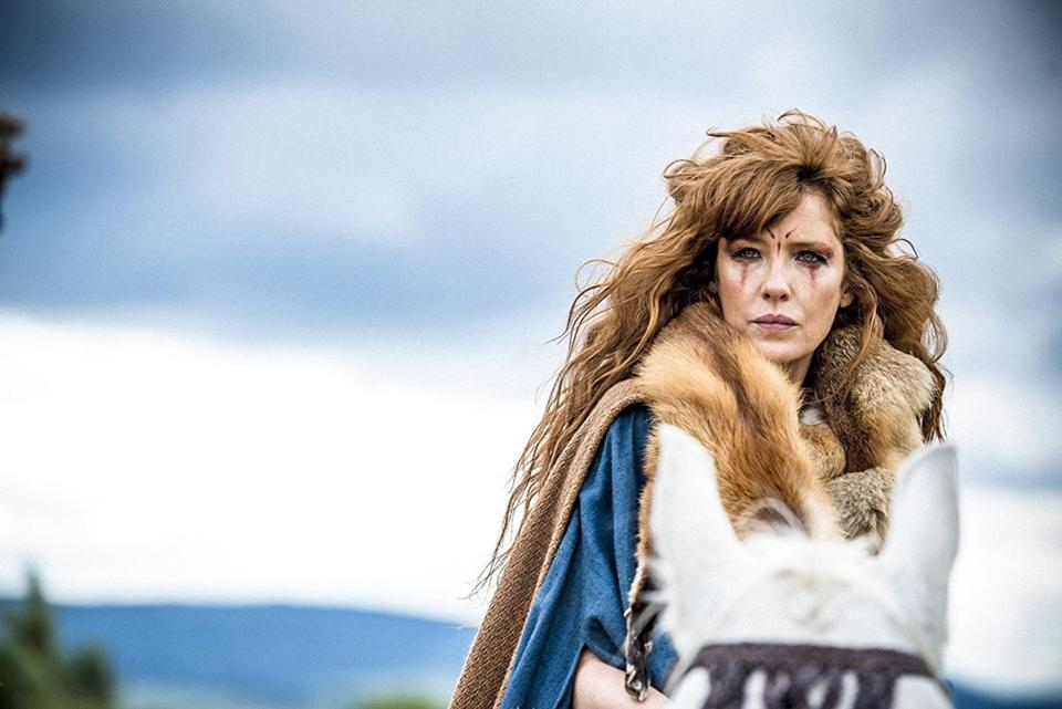 "Kelly Reilly plays Kerra, a fierce warrior, in Amazon's ""Britannia."""