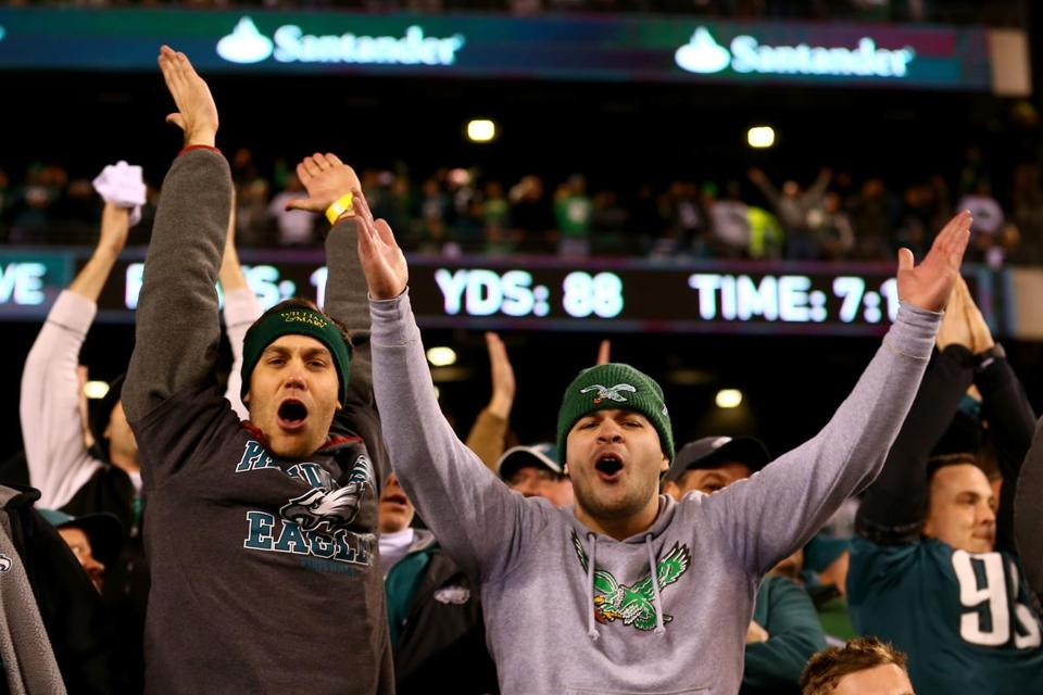Eagles fans had reason to celebrate at Lincoln Financial Field in Philadelphia.