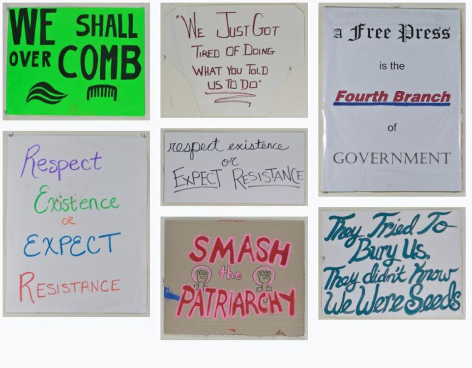 23artofmarch -- An interactive trove of digitized signs from last year's Women's March in Boston is now available online. (Art of the March)