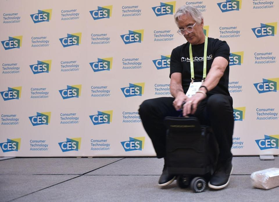 An exhibitor demonstrated the Modobag earlier this month in Las Vegas at CES 2018.