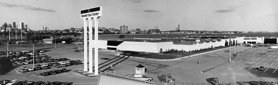 The Bayside Expo Center as it appeared before its opening in the early 1980s.