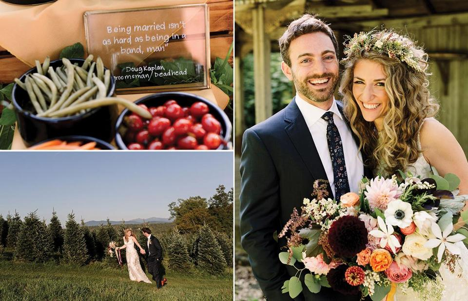 auren Chooljian, a radio reporter, and Matt Baer, an MBA student, got married in September on a Christmas tree farm in New Hampshire. They went to great lengths to make family and friends feel special.