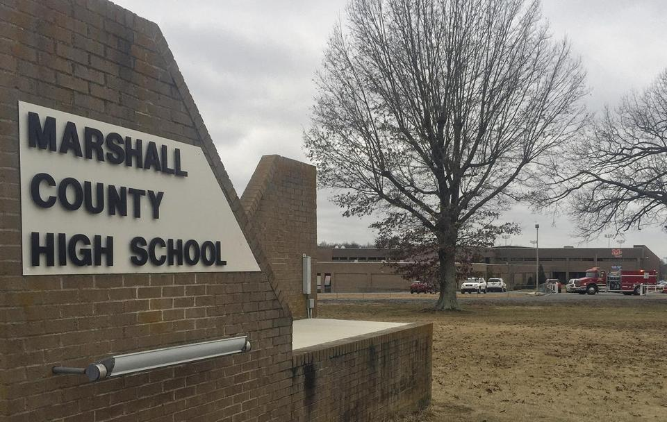 Tuesday's shooting came moments before classes would have begun at Marshal County High School in Benton, Ky.