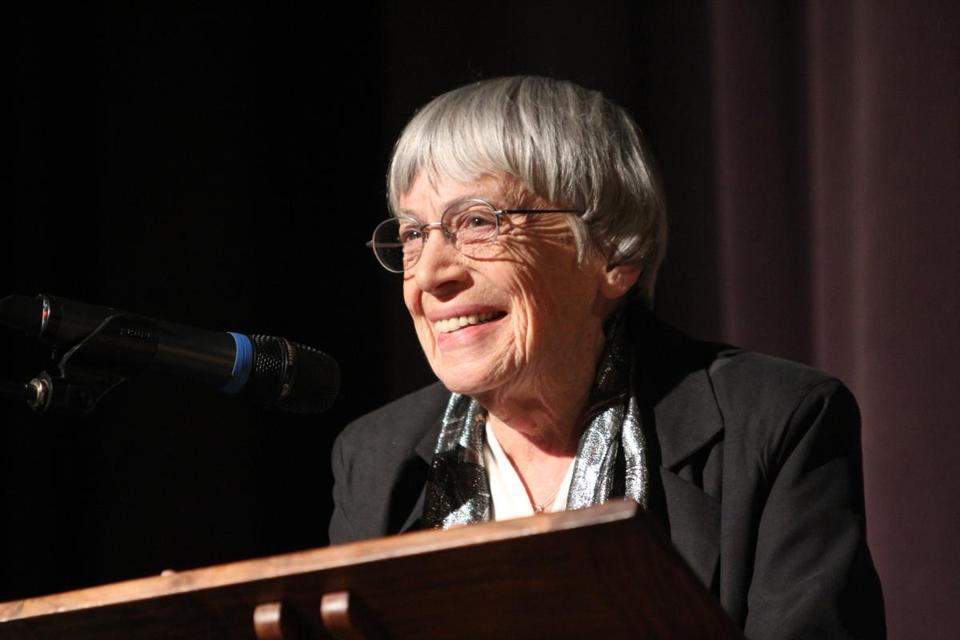 "Ms. Le Guin's fiction combines compelling stories, rigorous narrative logic, and a lean but lyrical style to draw readers into what she called the ""inner lands"" of the imagination."