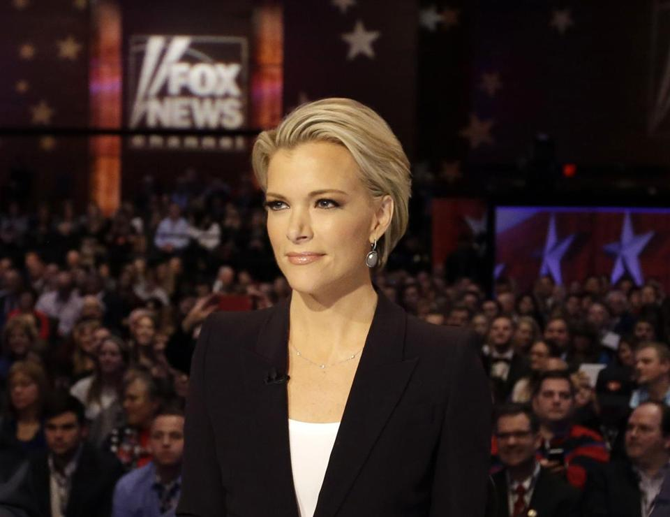 FILE - In this Jan. 28, 2016 file photo, Moderator Megyn Kelly waits for the start of the Republican presidential primary debate in Des Moines, Iowa.