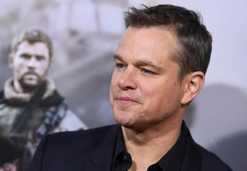 "Actor Matt Damon attends the world premiere of ""12 Strong"" at Jazz at Lincoln Center on January 16, 2018, in New York City. / AFP PHOTO / ANGELA WEISSANGELA WEISS/AFP/Getty Images"