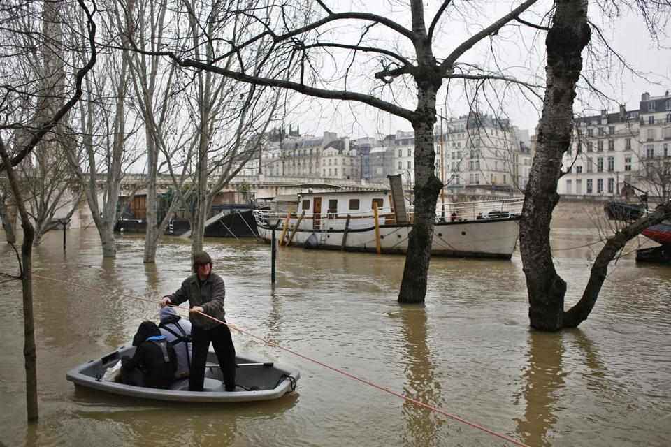 Rain Swollen Seine Floods Parts Of Paris The Boston Globe