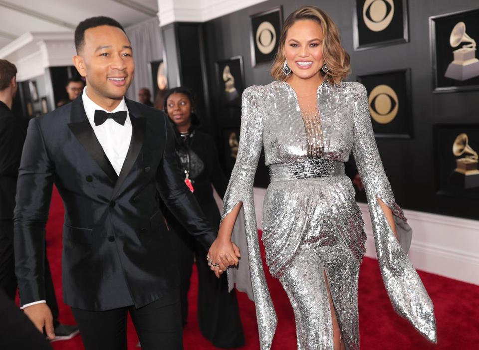 John Legend and model Chrissy Teigen.