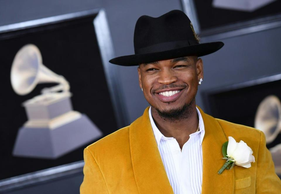 Ne-Yo arrived for the 60th Grammy Awards in New York.