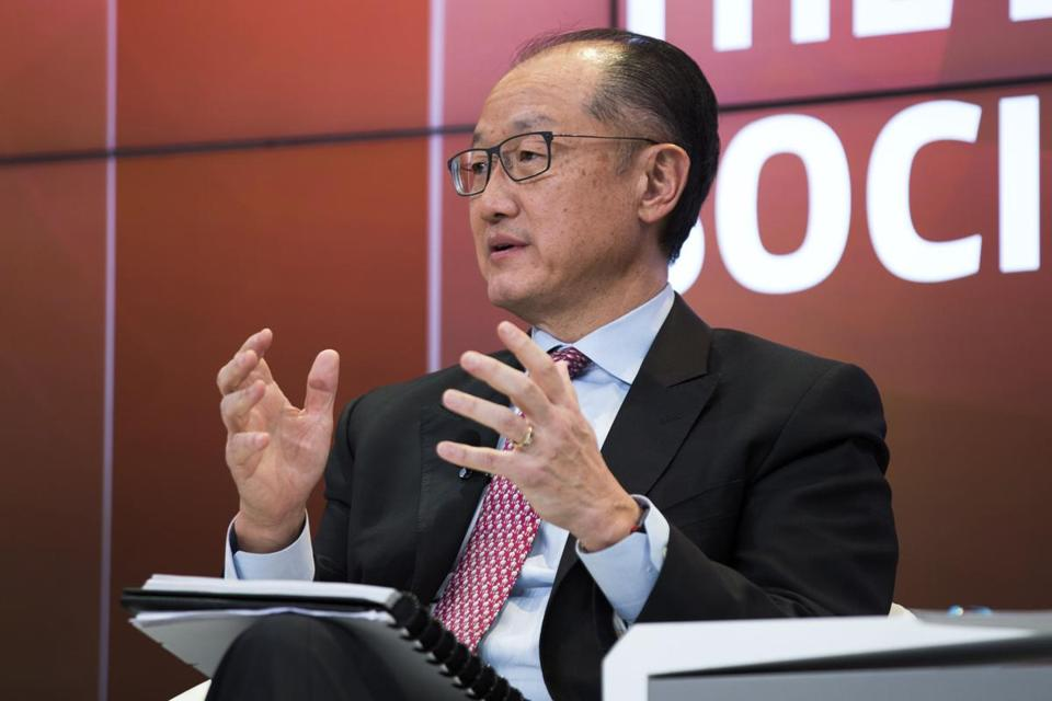 World Bank President Jim Yong Kim spoke last week during a panel discussion at the World Economic Forum in Davos, Switzerland.