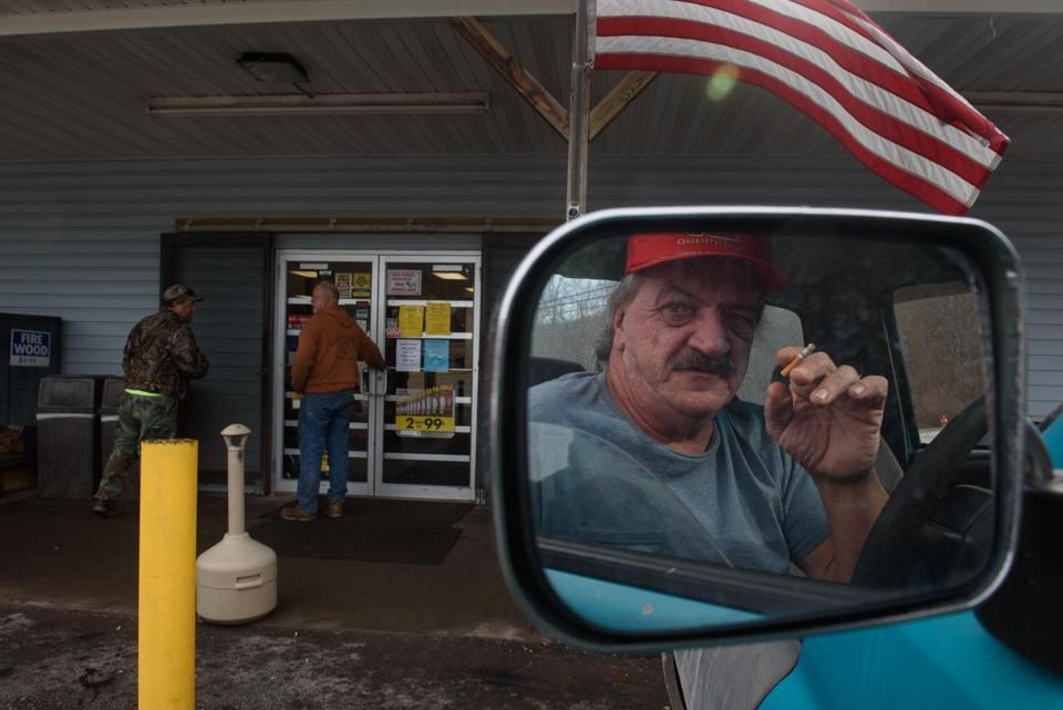 A Melcroft resident sat in his truck across from Ed's Car Wash, where five people were found dead and one injured after a shooting early Sunday.